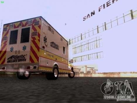 Ford F-350 Ambulance para GTA San Andreas traseira esquerda vista