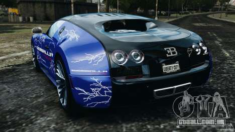 Bugatti Veyron 16.4 Super Sport 2011 v1.0 [EPM] para GTA 4 traseira esquerda vista