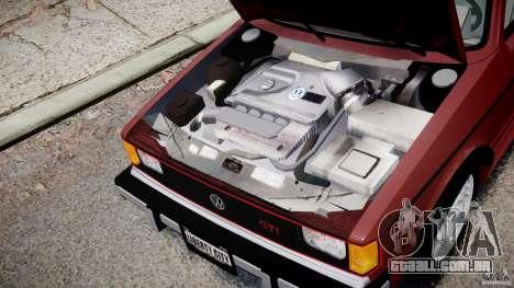 Volkswagen Rabbit 1986 para GTA 4 vista interior