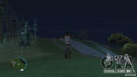GTA IV HUD para um ecrã largo (16:9) para GTA San Andreas por diante tela