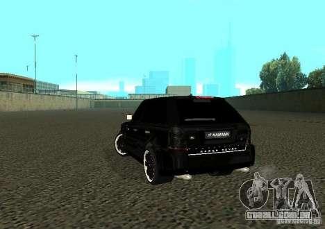 Land Rover Range Rover Sport Hamann para GTA San Andreas traseira esquerda vista
