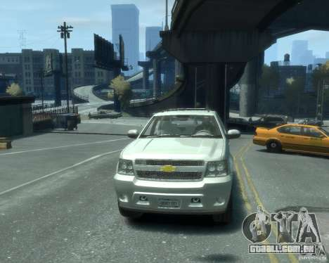 Chevrolet Avalanche Version Pack 1.0 para GTA 4 vista de volta