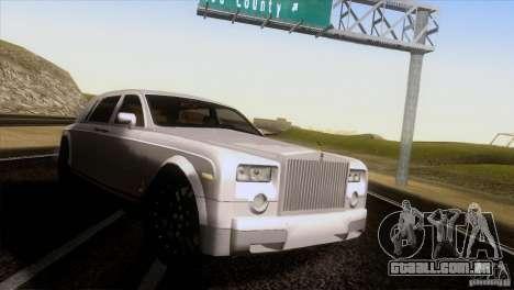 Rolls Royce Phantom Hamann para GTA San Andreas traseira esquerda vista
