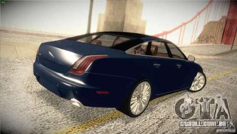 Jaguar XJ 2010 V1.0 para GTA San Andreas vista superior