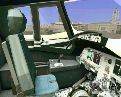 Avião Airbus A-320 UTair para vista lateral GTA San Andreas