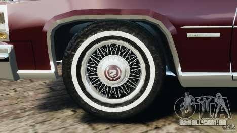 Cadillac Fleetwood Brougham Delegance 1986 para GTA 4 vista inferior