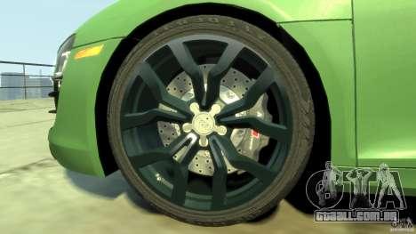 Audi R8 5.2 FSI quattro v1 para GTA 4 vista lateral