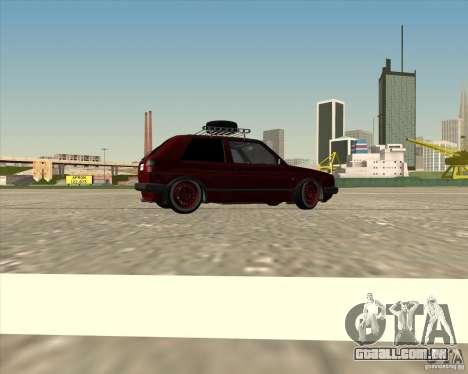 VW Golf II Shadow Crew para GTA San Andreas vista inferior