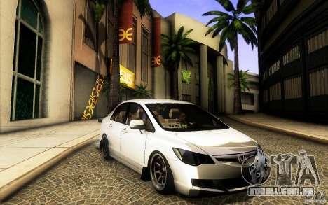 Honda Civic FD BlueKun para GTA San Andreas esquerda vista