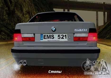 BMW E34 540i Tunable para GTA San Andreas interior