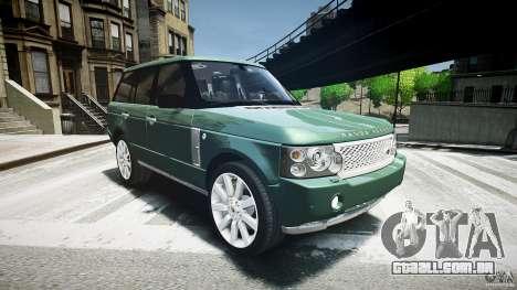 Range Rover Supercharged v1.0 para GTA 4 vista de volta