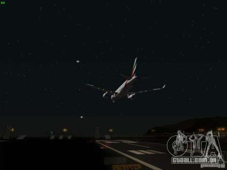 Airbus A350-900 Emirates para GTA San Andreas vista superior