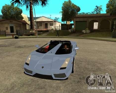 Lamborghini Concept-S para GTA San Andreas vista traseira
