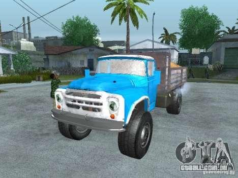 Caminhão de lixo ZIL 130 para GTA San Andreas