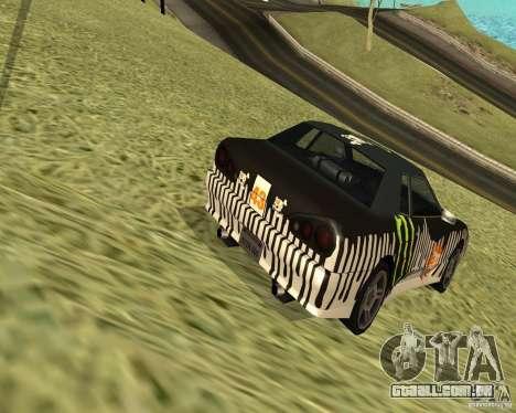 Monster Energy Vinyl para GTA San Andreas traseira esquerda vista