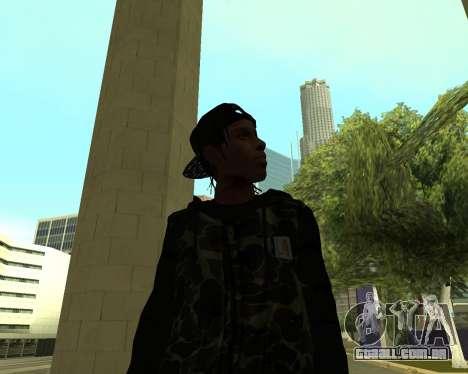 A$AP Rocky para GTA San Andreas quinto tela