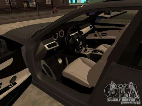 BMW M5 E60 2009 v2 para vista lateral GTA San Andreas
