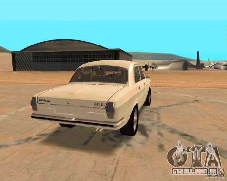 GAZ Volga 2410 Hot Road para GTA San Andreas vista interior