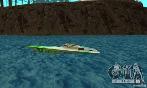 Speed Motorboat para GTA San Andreas esquerda vista