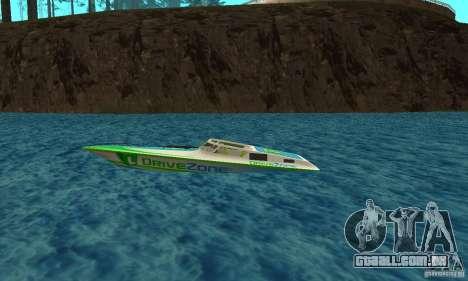 Speed Motorboat para GTA San Andreas esquerda vista