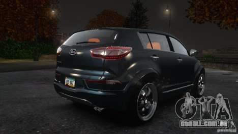 Kia Sportage 2010 v1.0 para GTA 4 vista direita