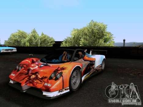 Pagani Zonda EX-R para GTA San Andreas vista superior