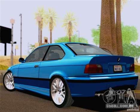 BMW M3 E36 New Wheels para GTA San Andreas vista direita