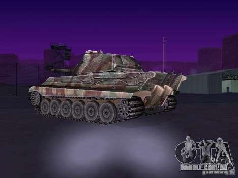 Pzkpfw VII Tiger II para GTA San Andreas traseira esquerda vista