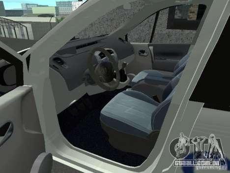 Renault Scenic II Police para GTA San Andreas traseira esquerda vista