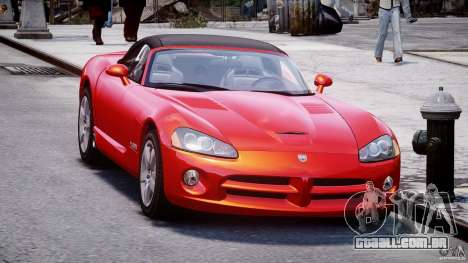 Dodge Viper SRT-10 2003 1.0 para GTA 4 vista direita