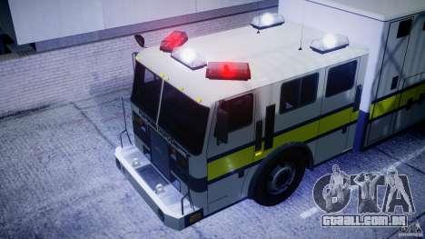 Royal Logistic Corps Bomb Disposal Truck para GTA 4 vista de volta