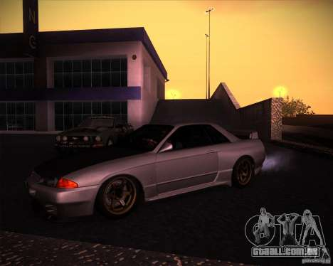 Nissan Skyline (R32) SHE para GTA San Andreas esquerda vista