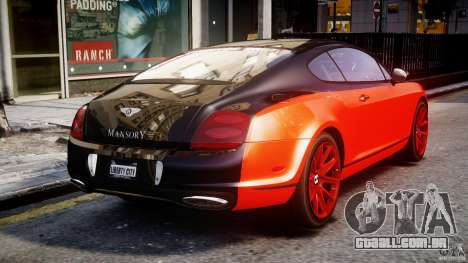 Bentley Continental SS 2010 Le Mansory [EPM] para GTA 4 vista lateral