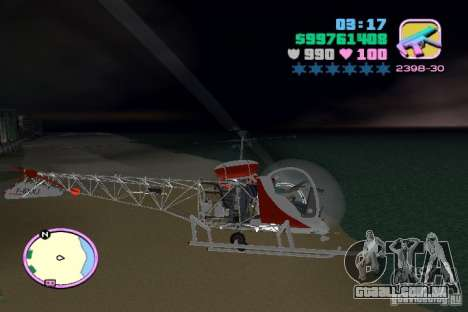 Bell 47 para GTA Vice City vista interior