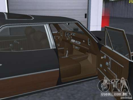 Oldsmobile Vista Cruiser 1972 para GTA San Andreas vista interior