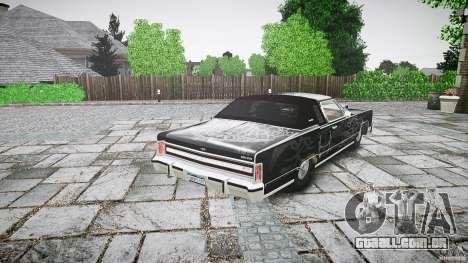 Lincoln Continental Town Coupe v1.0 1979 para GTA 4 vista superior