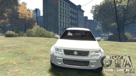 Suzuki Grand Vitara para GTA 4 traseira esquerda vista