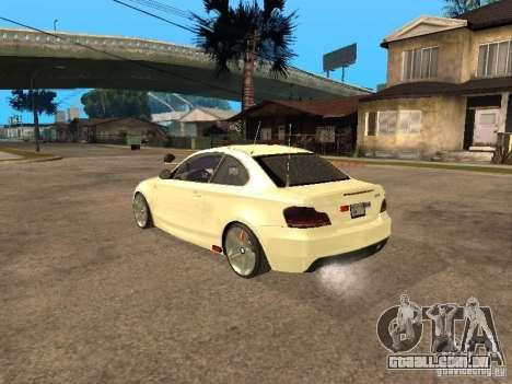 Bmw 135i coupe Police para GTA San Andreas esquerda vista