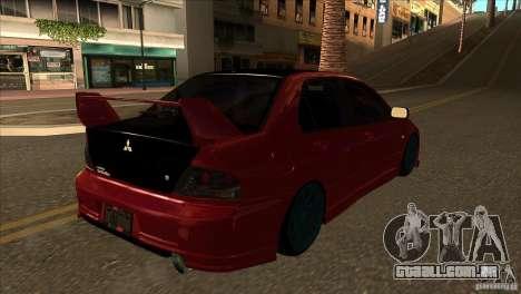 Mitsubishi Lancer Evo 8 Street Drift para GTA San Andreas vista direita