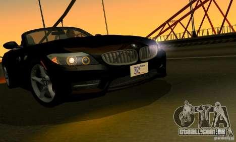 BMW Z4 2010 para vista lateral GTA San Andreas