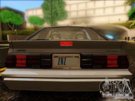 Mitsubishi Starion ESI-R 1986 para GTA San Andreas vista direita