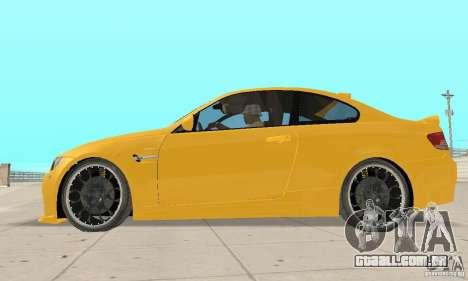 BMW M3 2008 Hamann v1.2 para GTA San Andreas vista traseira