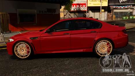 BMW M5 F10 2012 Hamann para GTA 4 esquerda vista