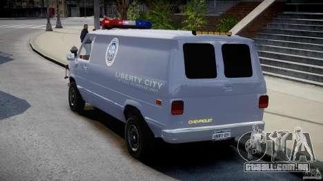 Chevrolet G20 Police Van [ELS] para GTA 4 traseira esquerda vista