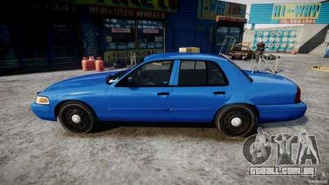 Ford Crown Victoria Detective v4.7 [ELS] para GTA 4 esquerda vista