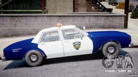 Chevrolet Impala Police 1983 para GTA 4 vista lateral