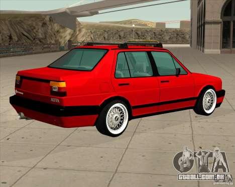 Volkswagen Jetta 1987 Eurostyle para GTA San Andreas esquerda vista