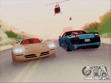 Nissan R390 Road Car v1.0 para GTA San Andreas vista direita