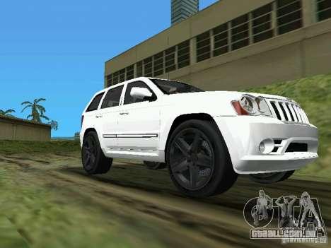Jeep Grand Cherokee SRT8 TT Black Revel para GTA Vice City vista traseira esquerda