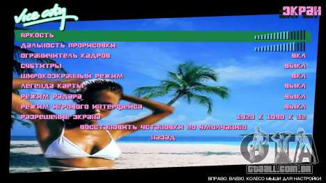 Fundo do menu Spiaggia para GTA Vice City segunda tela